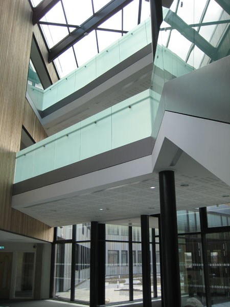 Computer Science glass atrium August 2010