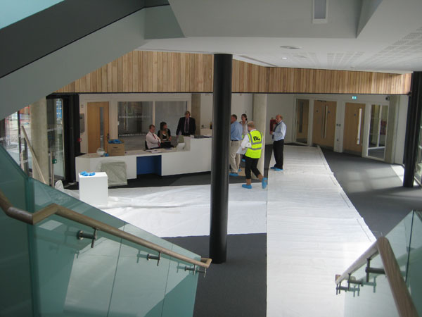 View of reception desk August 2010