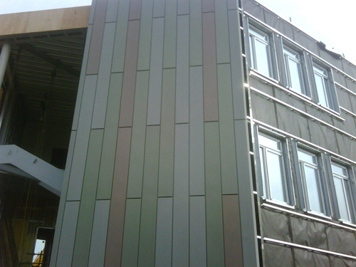 Close up of external cladding of CS Hes East building March 2010