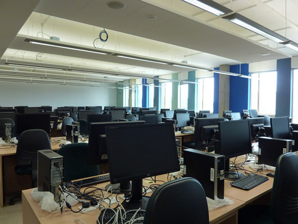 Software lab in new CS building September 2010