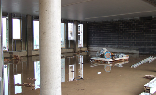 Internal shot of new CS building - hardware labs - December 2009