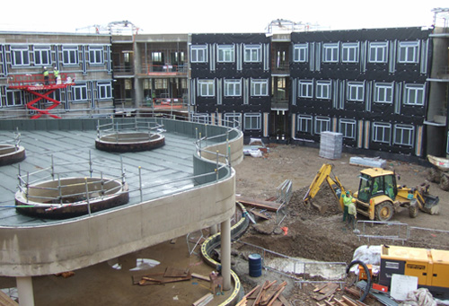 View of the pod and academic wing December 2009