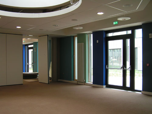 Finishing off the seminar room in the pod July 2010