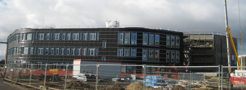 View of one side of CS building February 2010