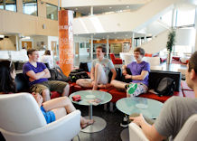 Students in the Ron Cooke Hub