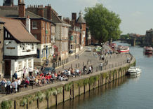 View of River Ouse and Kings Arms pub